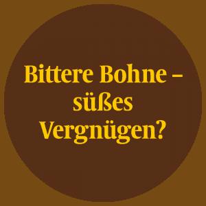 """Das Logo der Kakaoausstellung """"Bittere Bohne - süßes Vergnügen"""""""
