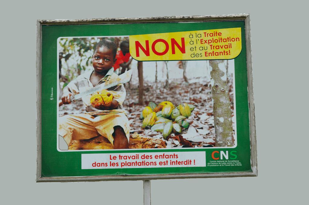 Plakat gegen Kinderarbeit